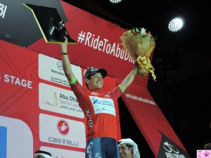 The winner of the Abu Dhabi Tour 2015 is Esteban Chaves